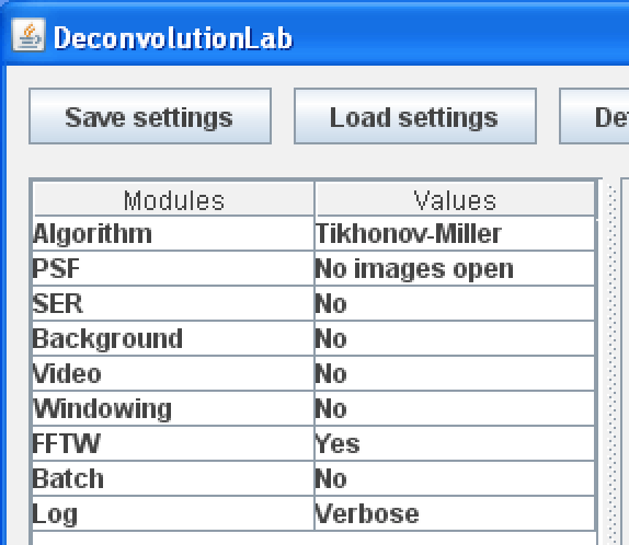 DeconvolutionLab1 GUI