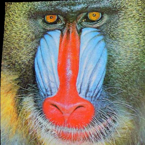 Deformed mandrill